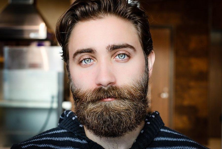 mężczyzna z bujną brodą