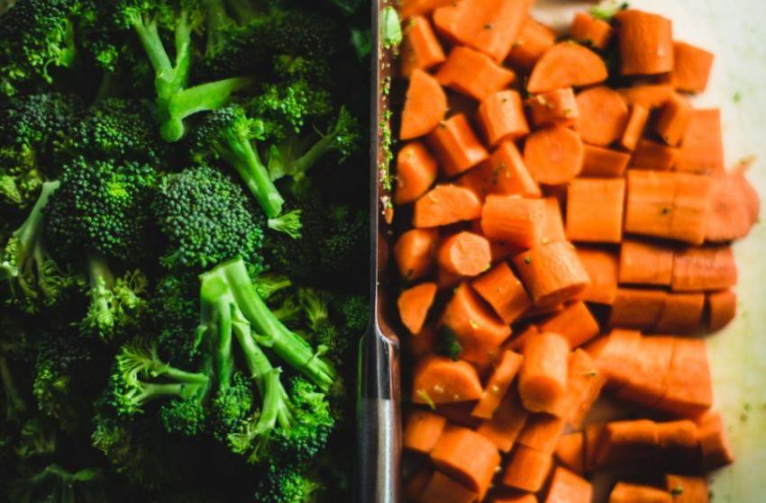 Pokrojone warzywa na dietetyczny posiłek