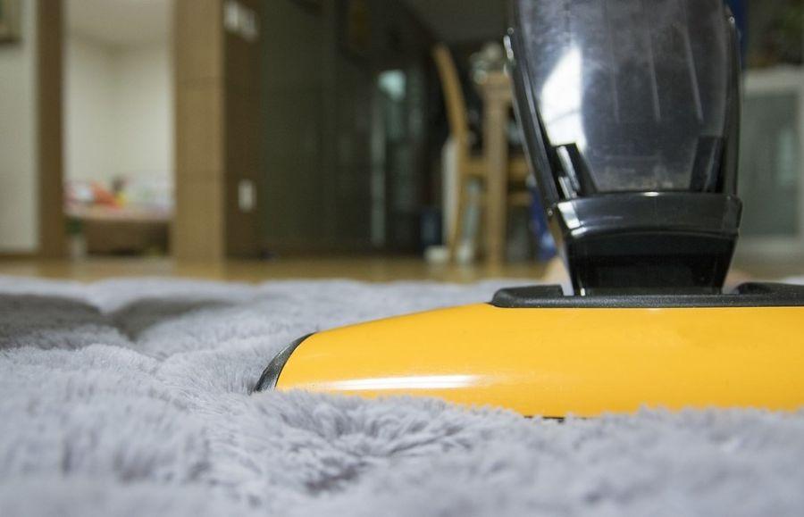 Odkurzacz pionowy sprząta włochaty dywan