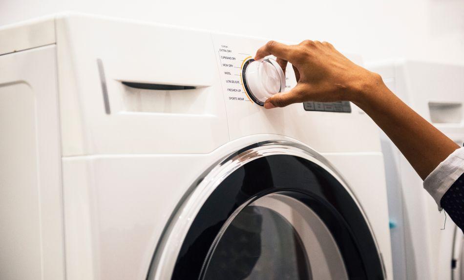 Sterowanie dużym pokrętłem suszarki do prania