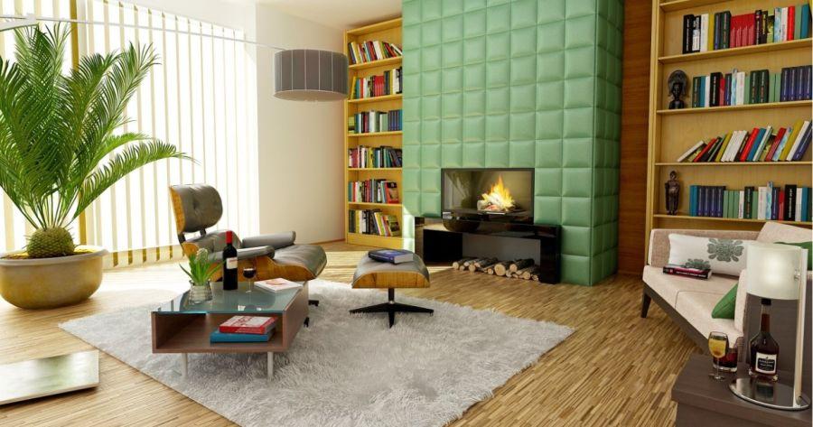 czysty i schludny salon mieszkania