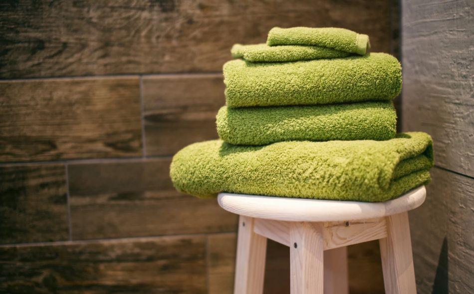 limonkowe ręczniki łazienkowe