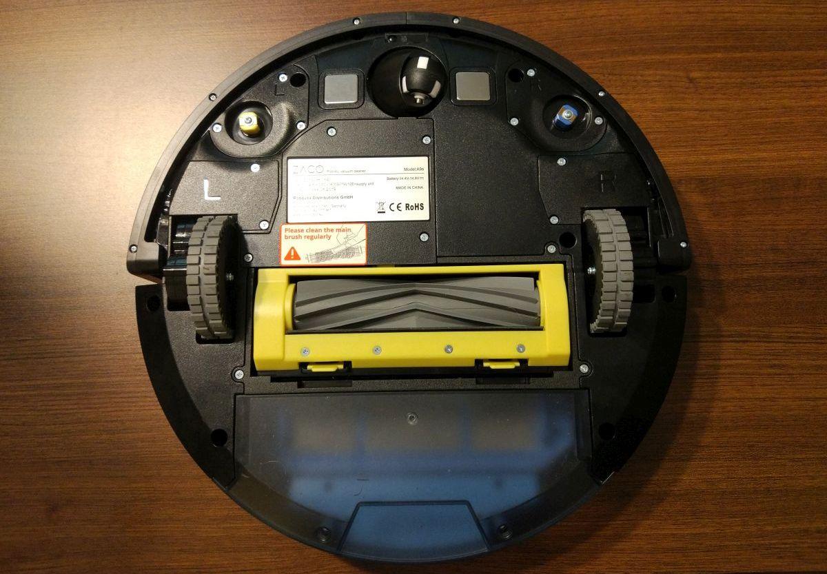 ZACO A9s od spodu z silikonową szczotką