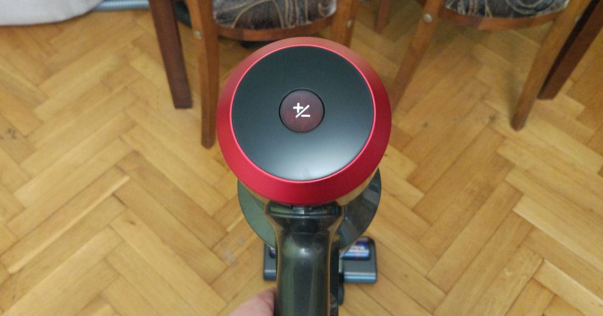 dibea F20 MAX przycisk do regulacji mocy