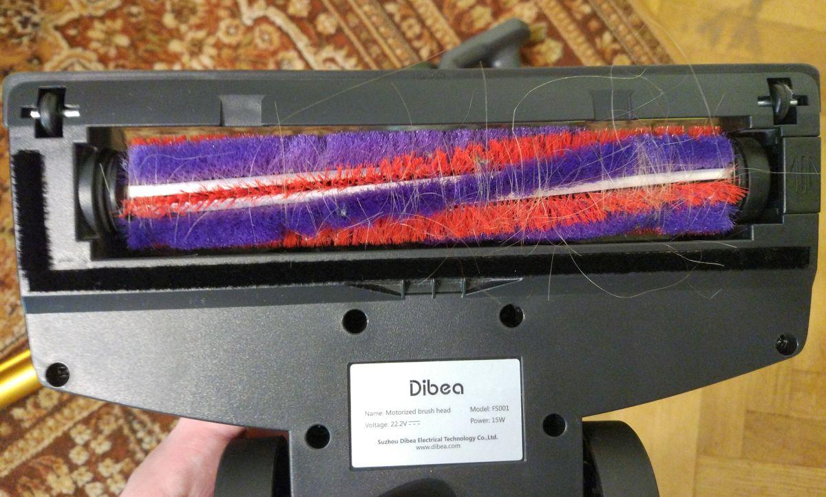 Dibea V008 Pro wałek po odkurzaniu