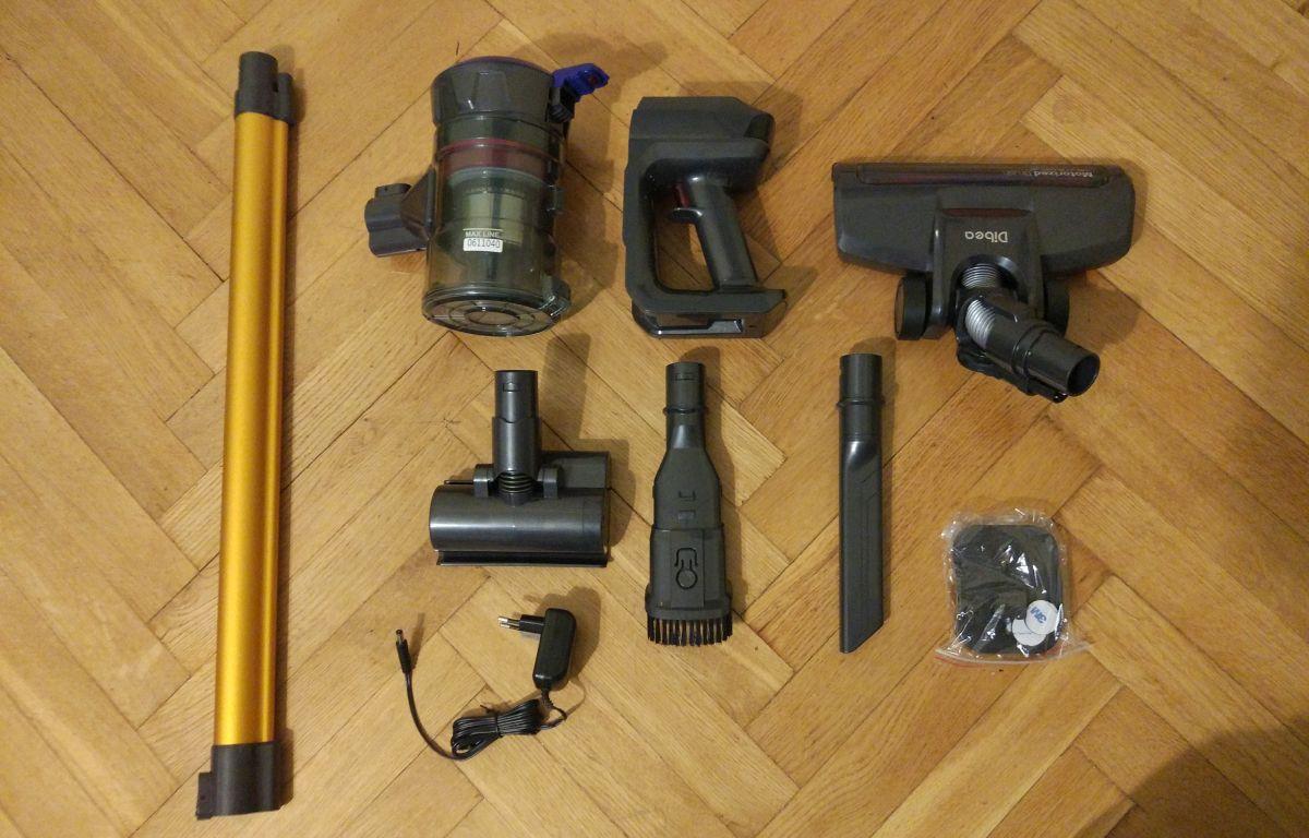 Dibea V008 PRO pełne wyposażenie zestaw