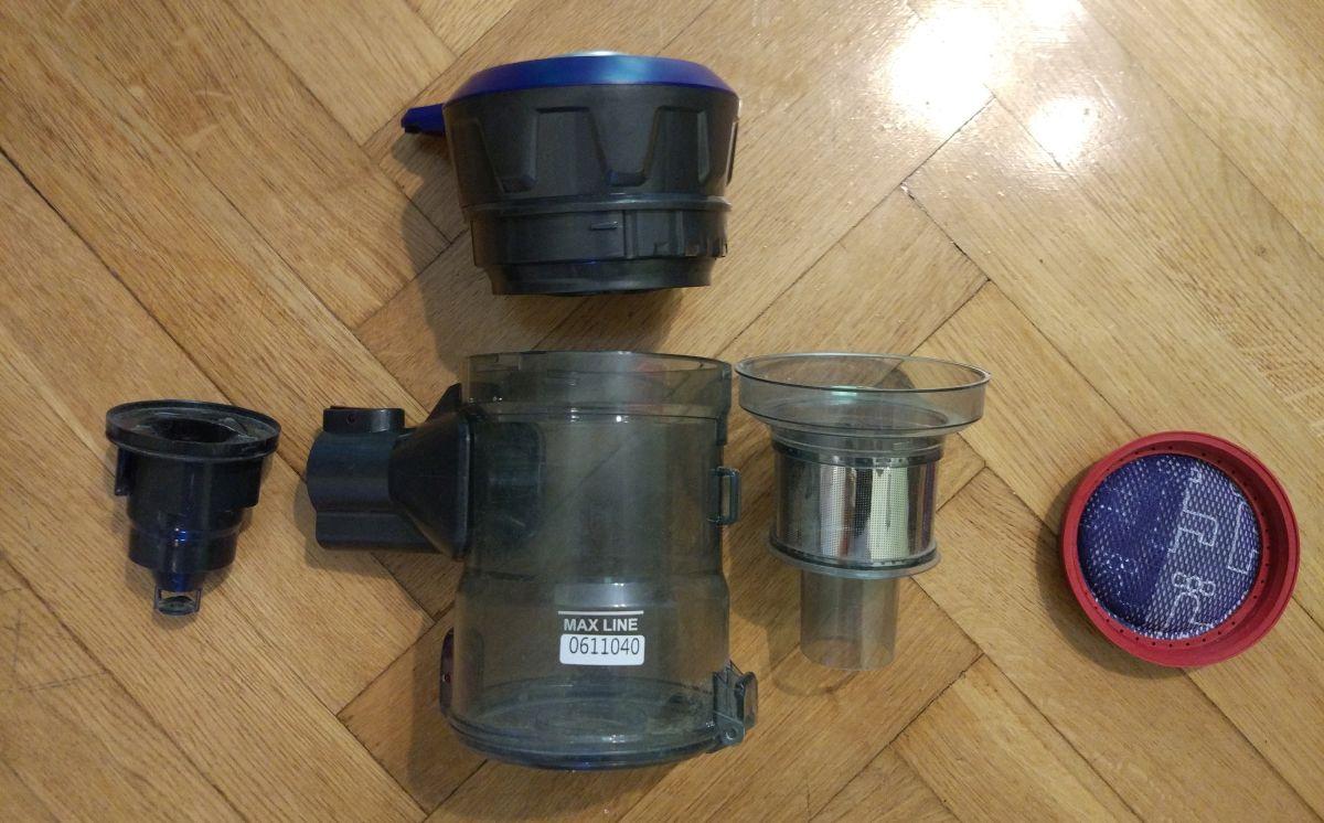 Dibea V008 PRO zbiornik rozłożony na części