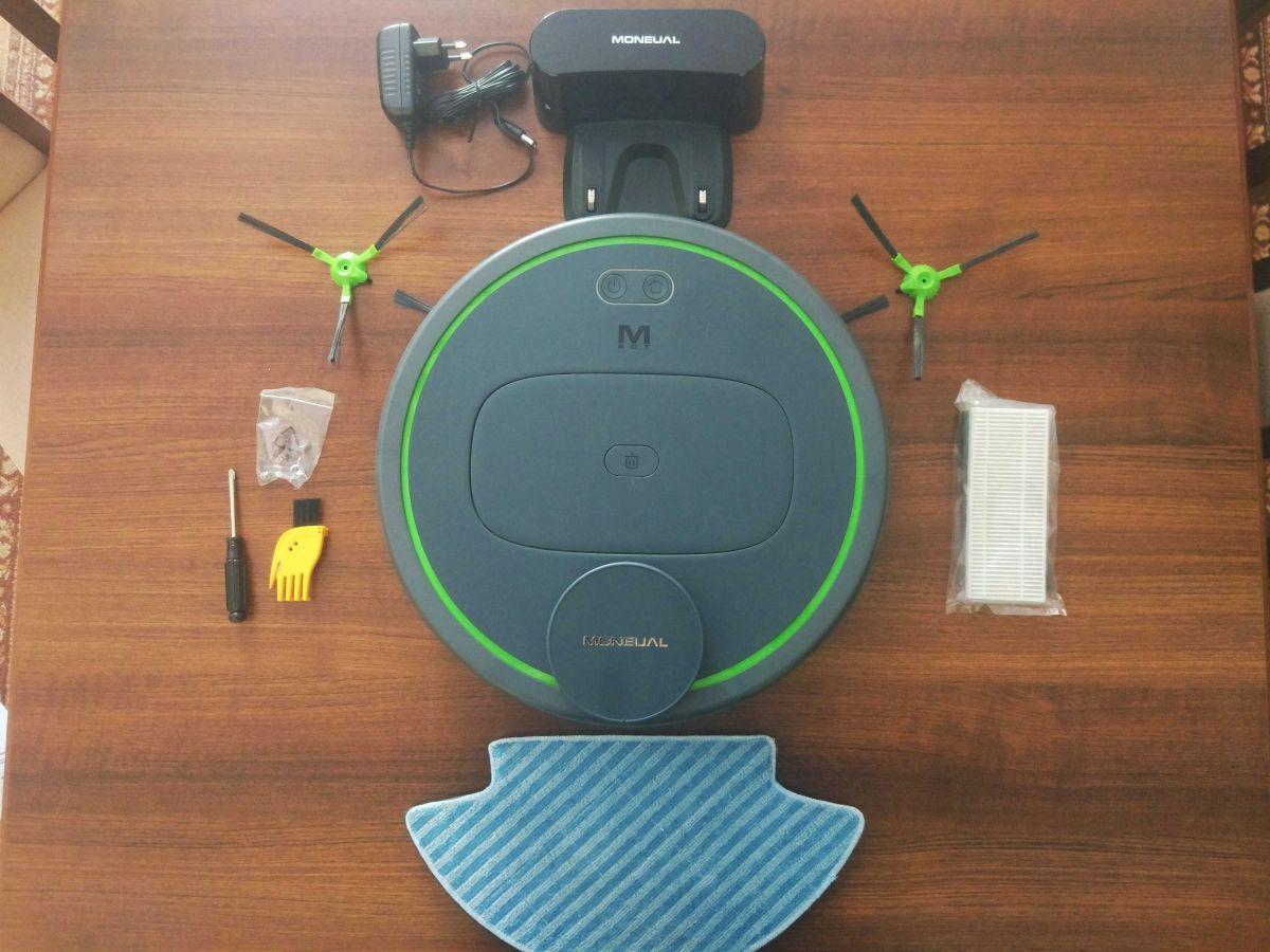 Moneual MBOT 950 całe wyposażenie robota odkurzającego
