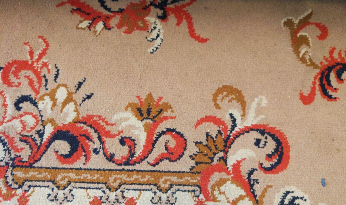 drugi zaśmiecony dywan przed testem odkurzania Philips XC8147/01 2