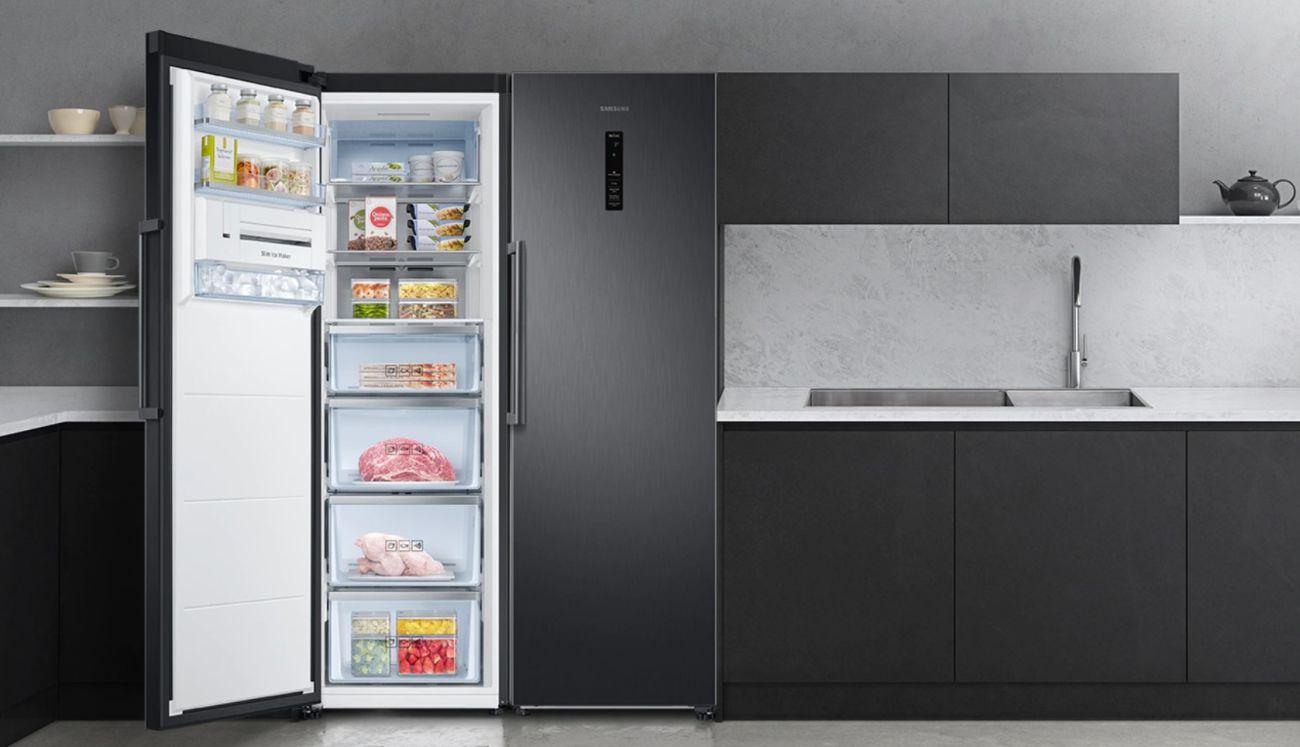 przykład dobrej i eleganckiej zamrażarki szufladowej w kuchni