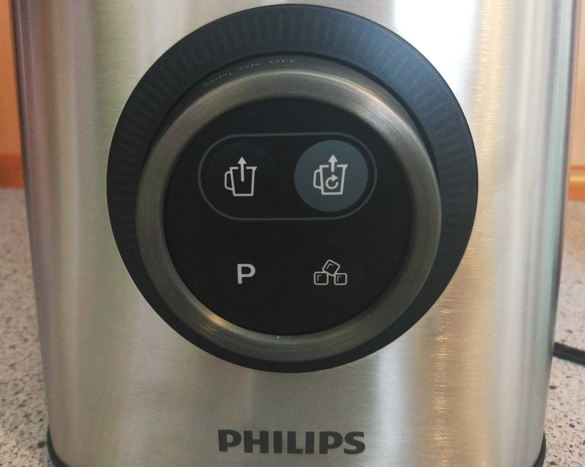 Blender Philips HR3756/00 panel sterowania z trybami pracy
