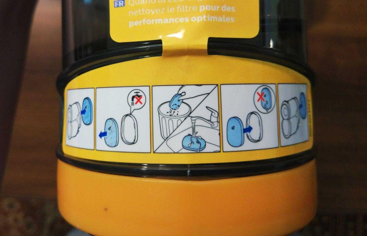 Philips XC8147/01 instrukcja czyszczenia filtra
