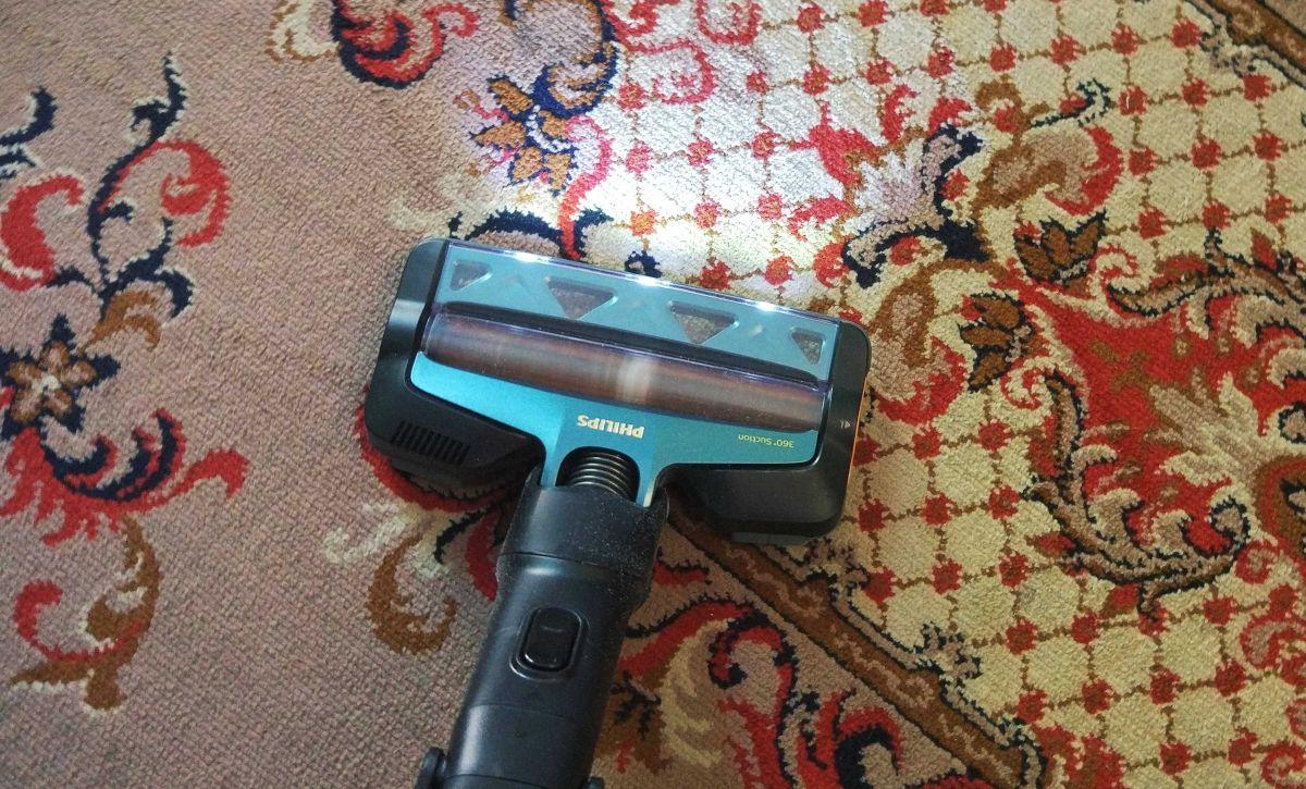 Philips XC8147/01 test odkurzania dywanu w drugim pokoju 2