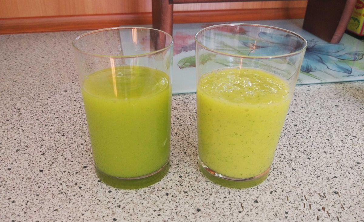 2 koktajl - porównanie miksowania w próżni i normalnie w innym blenderze