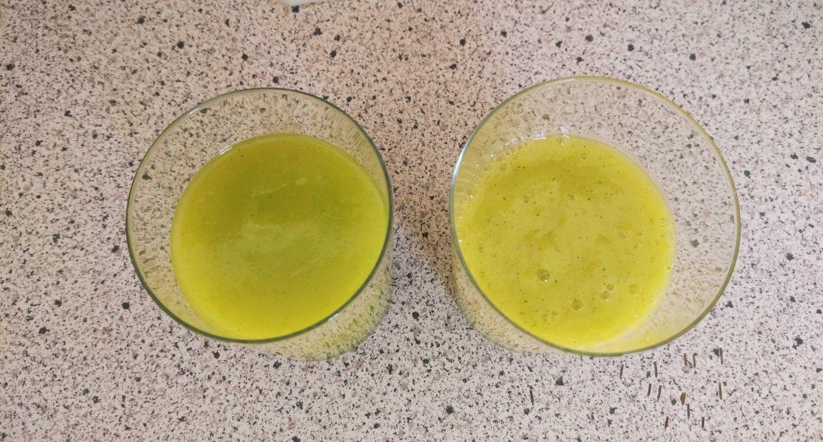 2 koktajl - porównanie miksowania w próżni i normalnie w innym blenderze 2