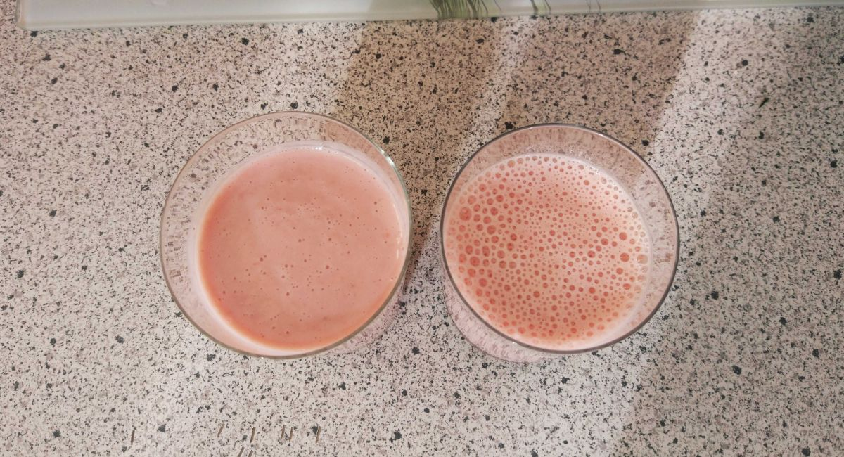 3 koktajl - porównanie miksowania w próżni i normalnie w innym blenderze 2