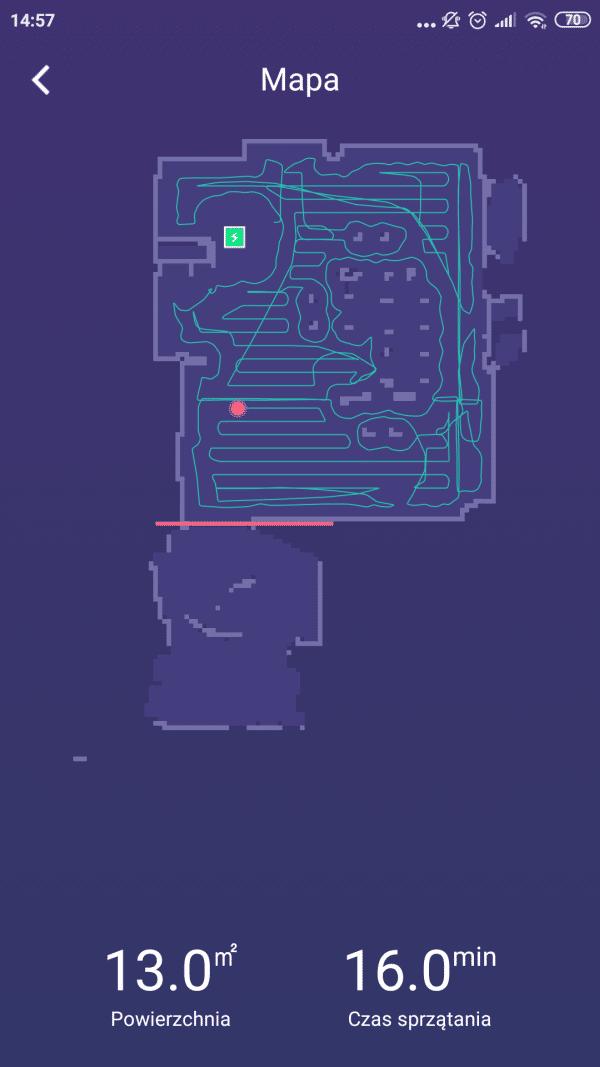 PURON PR10 zrobiona mapa odkurzanego pokoju