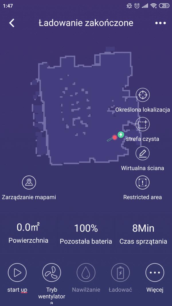 PURON PR10 główne menu aplikacji mobilne