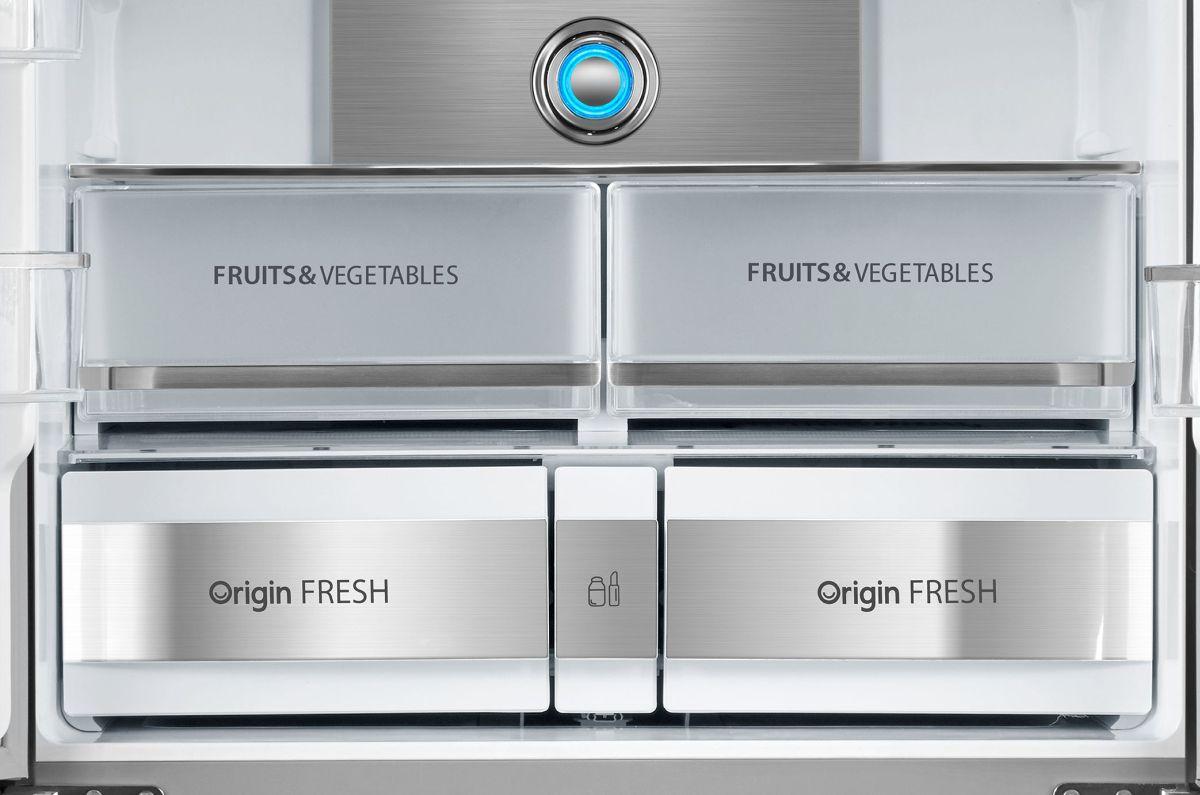 Toshiba GR-RF646WE szuflady na warzywa i owoce