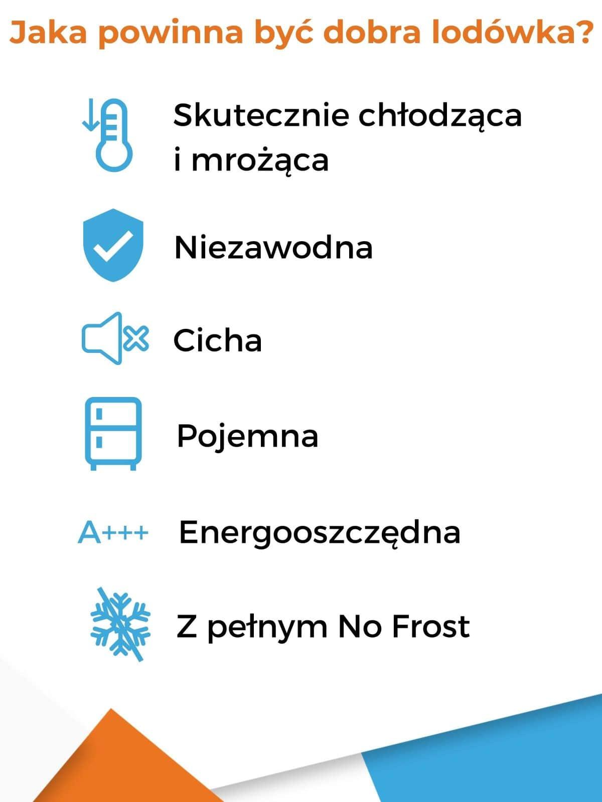 Jaka powinna być dobra lodówka - infografika