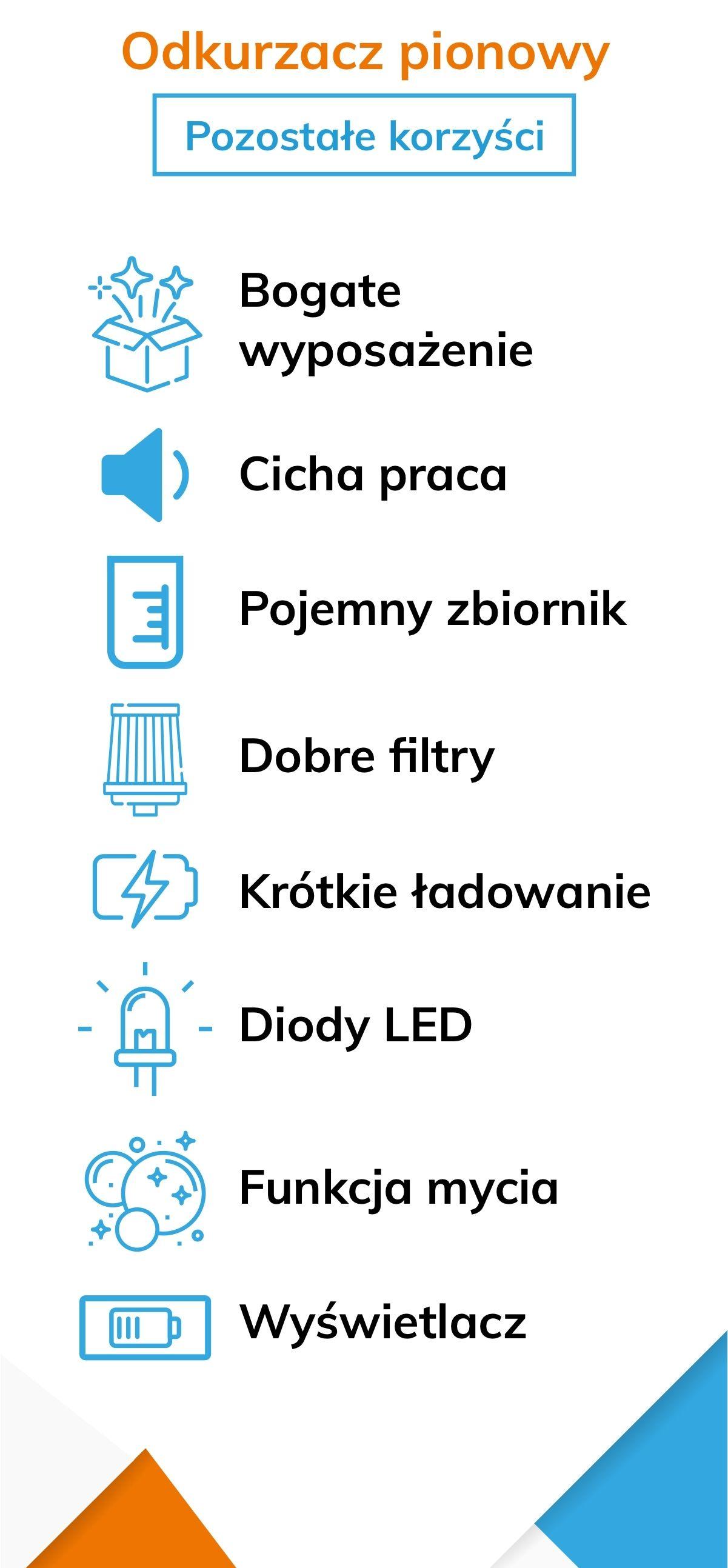 Odkurzacz pionowy - ważne korzyści i funkcje - Infografika