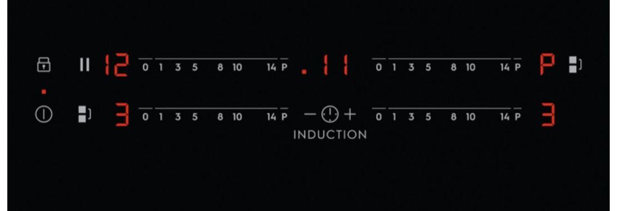 Przykładowy panel sterowania płyty indukcyjnej - 4 x slider