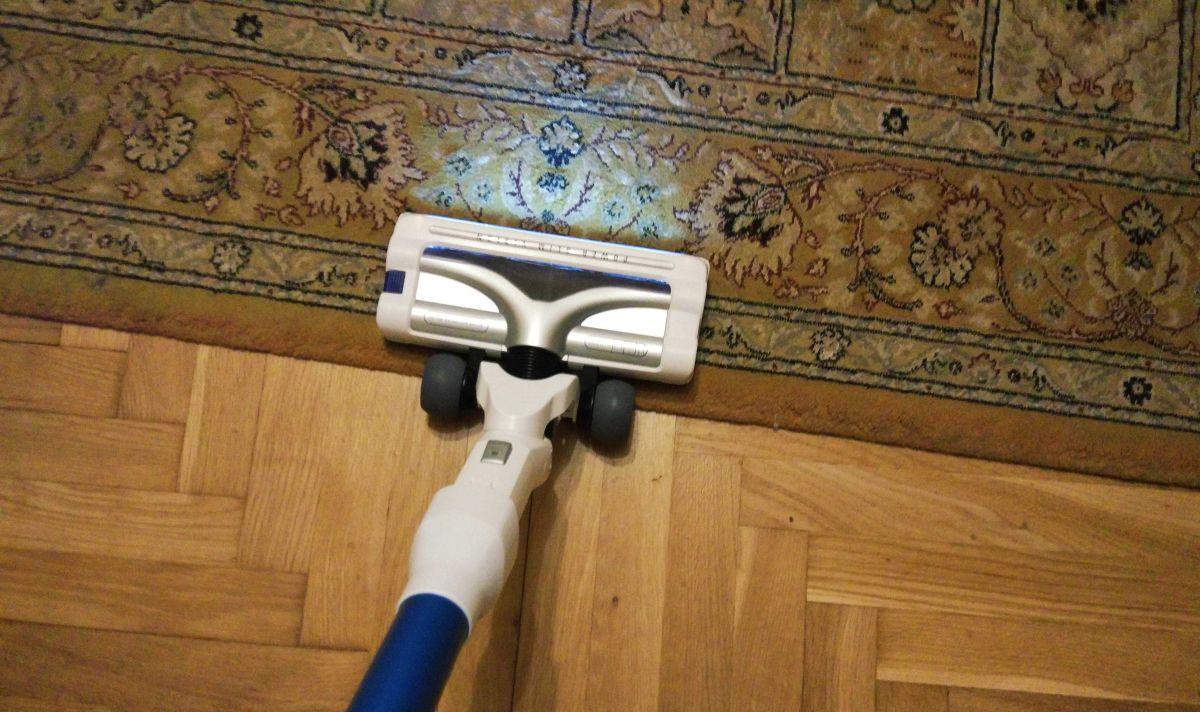 Tefal TY9490 test odkurzania dywanu z kocią sierścią