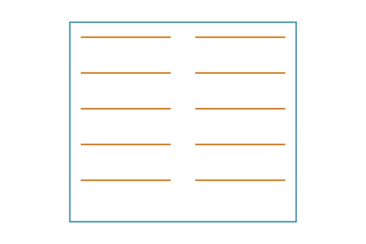 Układ pól grzejnych płyty indukcyjnej - grafika, rysunek z przykładem 1