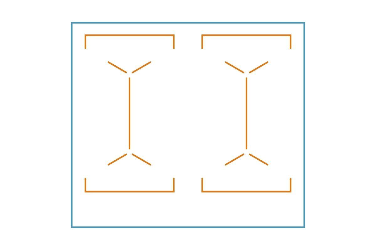 Układ pól grzejnych płyty indukcyjnej - grafika, rysunek z przykładem 2