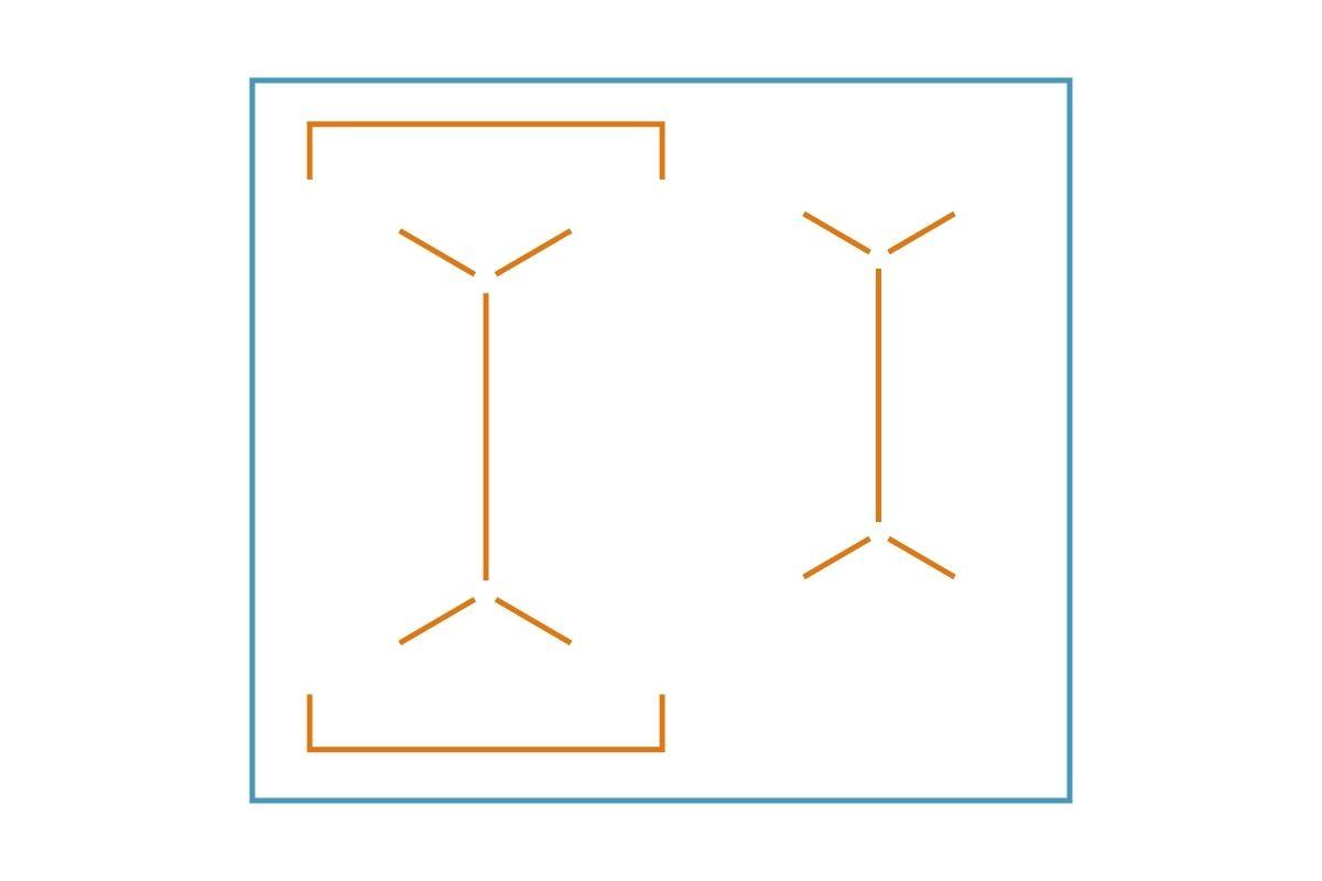 Układ pól grzejnych płyty indukcyjnej - grafika, rysunek z przykładem 3