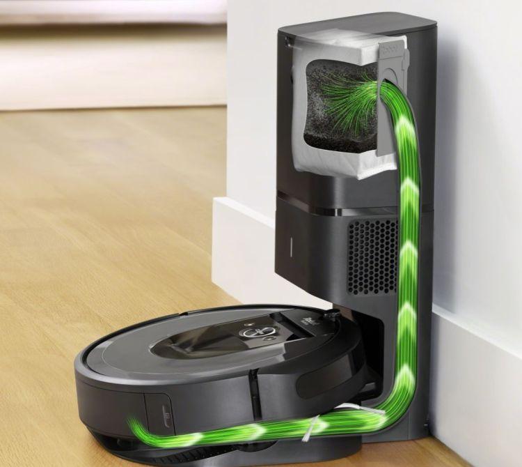 robot sprzątający iRobot Roomba i7+ stacja automatycznego opróżniania