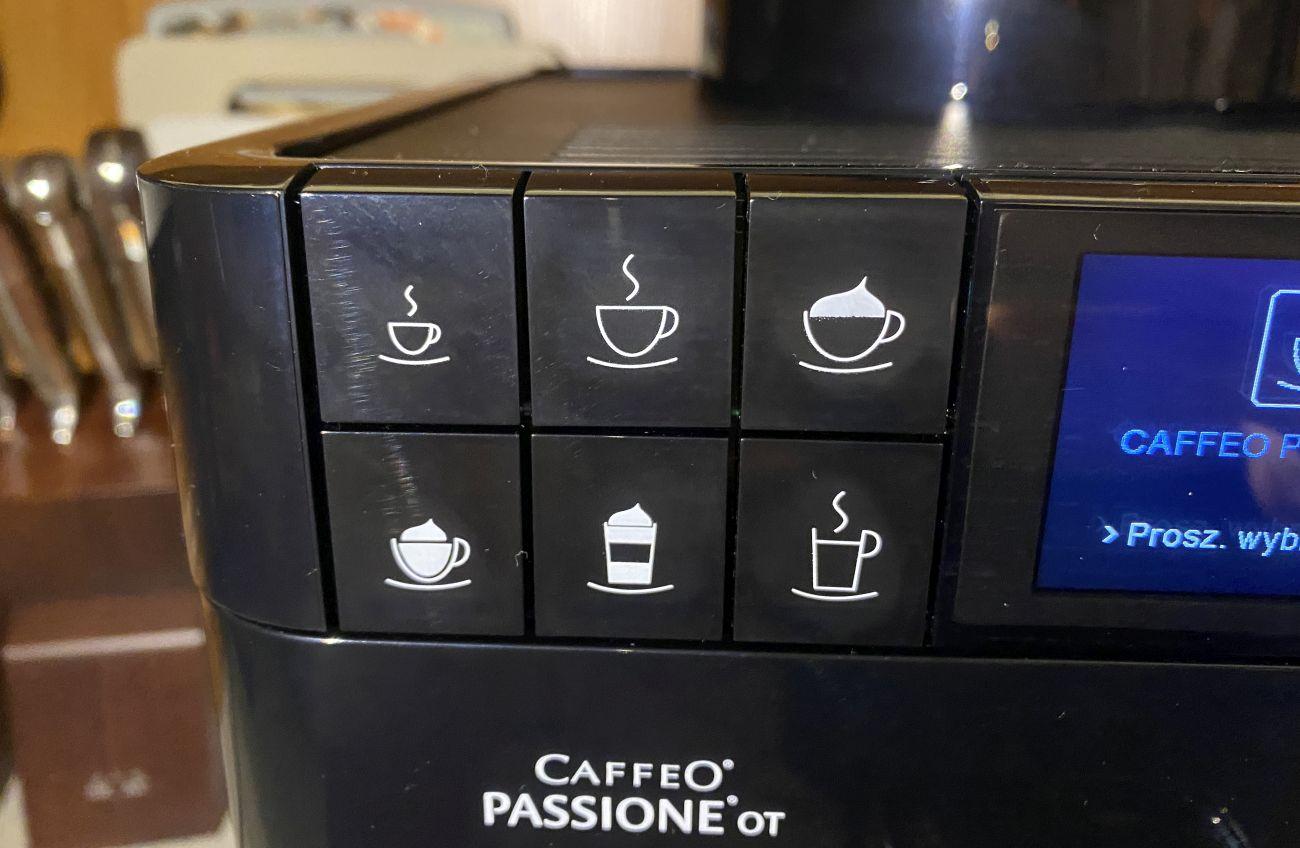 Melitta Passione OT F53/1-102 lewa strona panelu sterowania - domyślne kawy