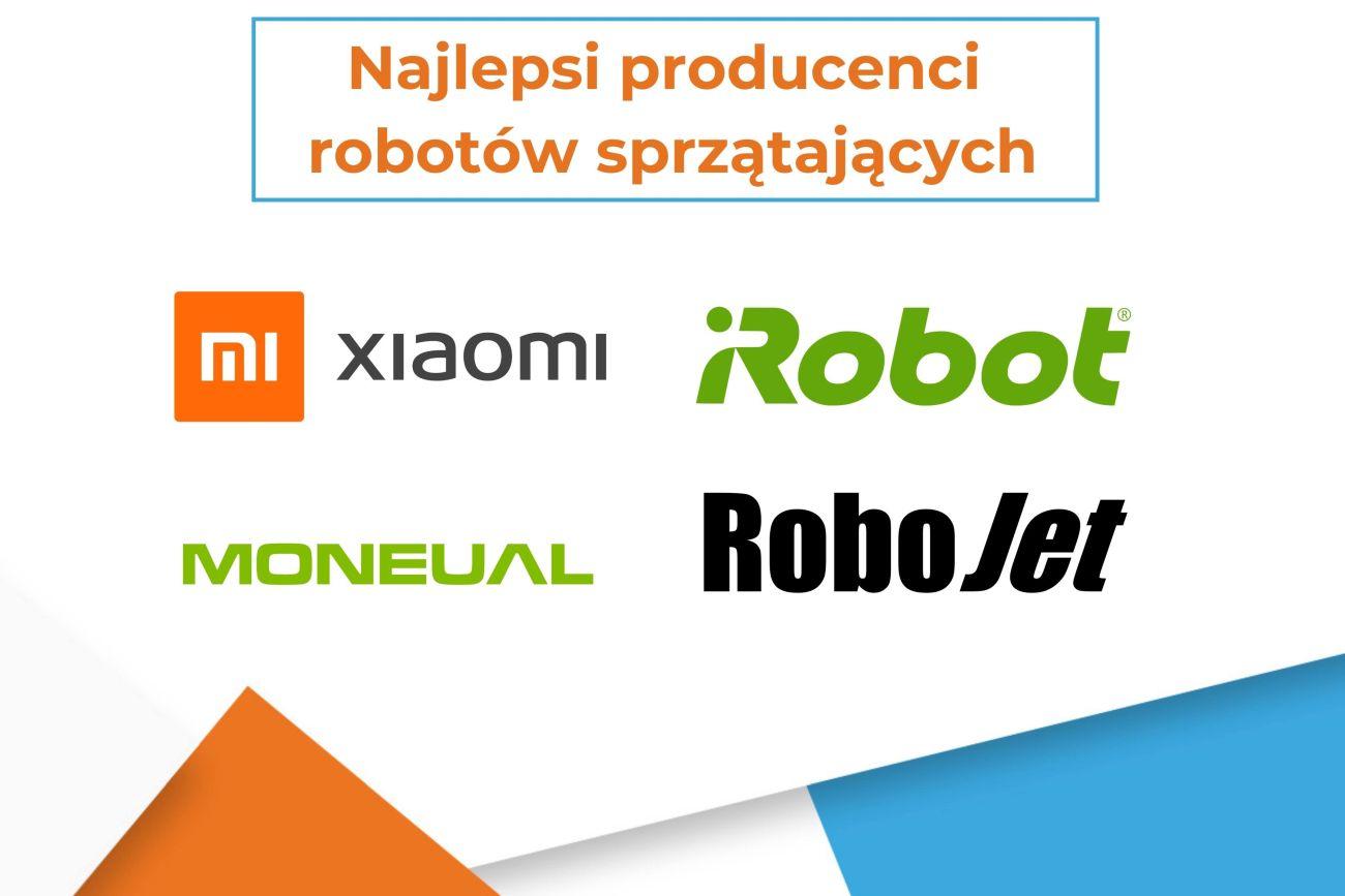 Najlepsi producenci robotów sprzątających - infografika