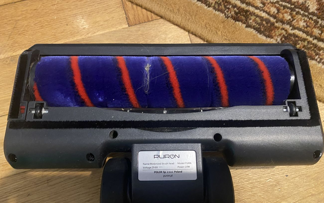 PURON PU20 - stan miękkiego wałka po odkurzaniu podłóg twardych