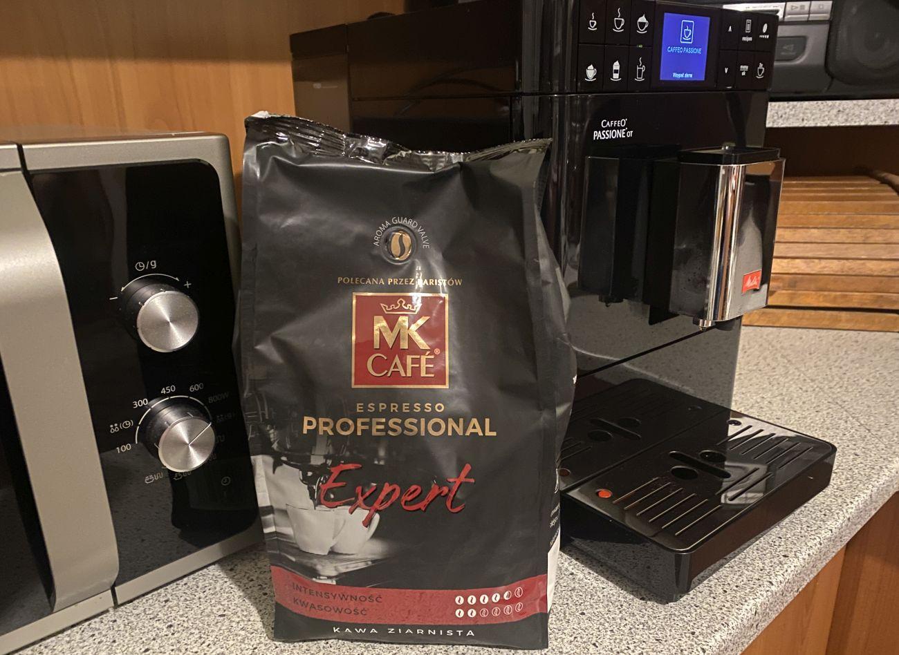 Kawa MK Cafe Professional Expert na test Melitta Passione OT F53/1-102ekspresu