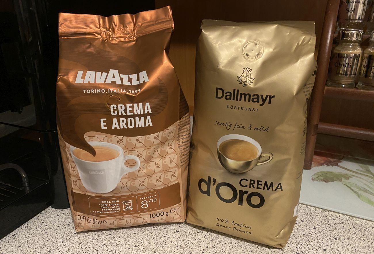 Kawy mleczne Lavazza Creme e Aroma i Dallmayr Crema d'Oro na test ekspresu Melitta Passione OT F53/1-102
