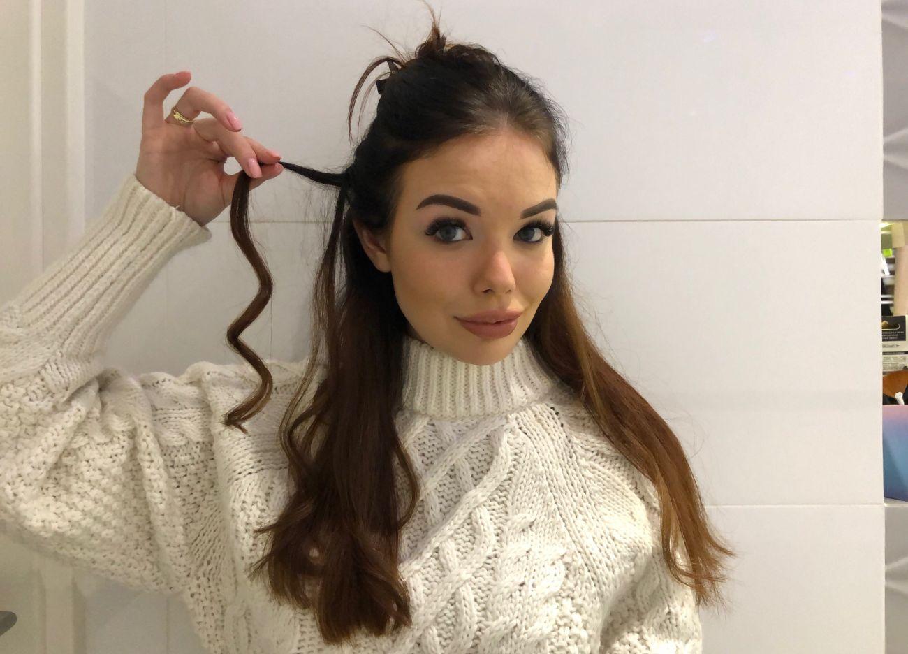 Robienie loków prostownicą - efekt zakręconych włosów