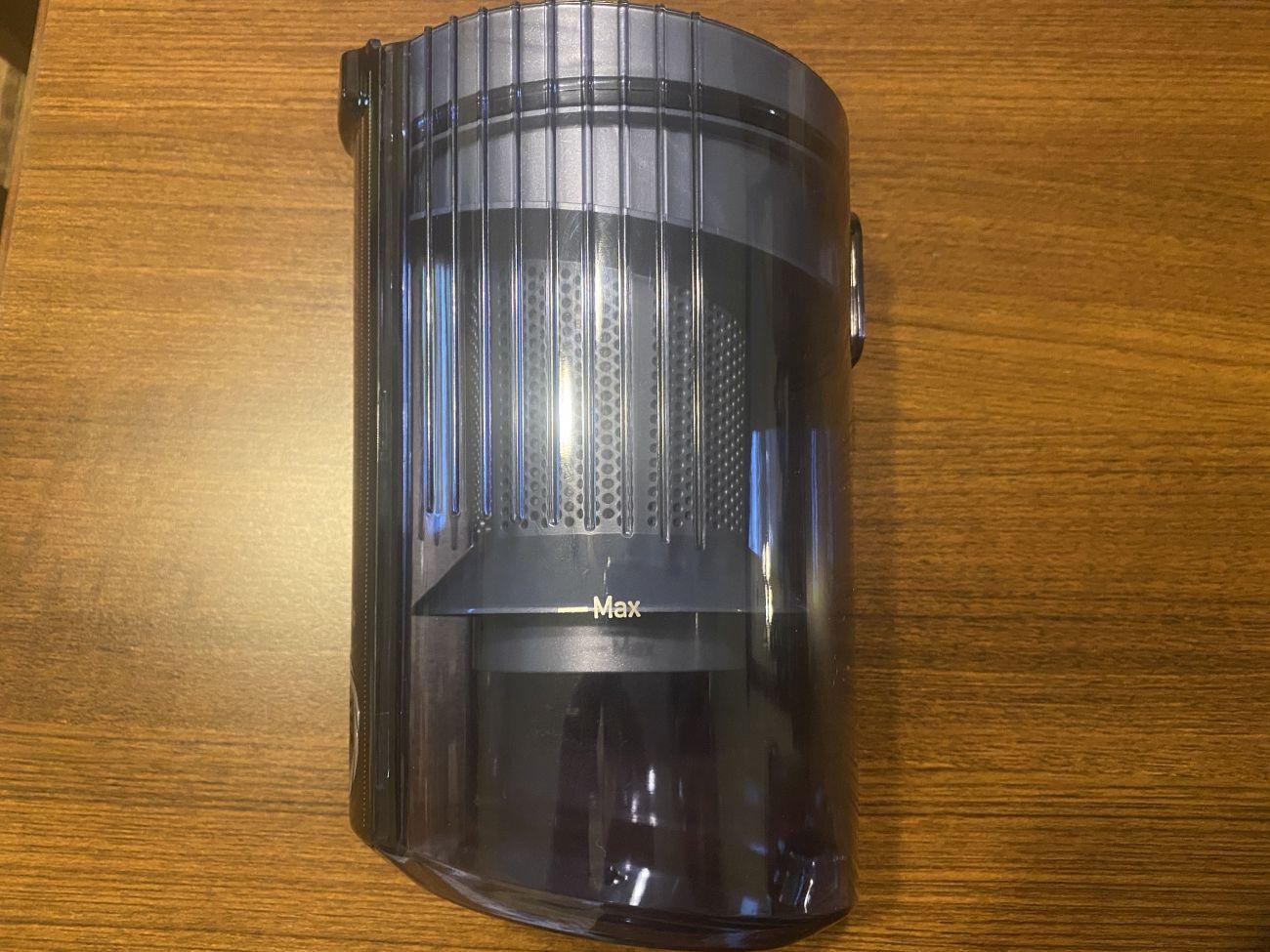 Tefal X-Force Flex 11.60 Aqua TY9890 wskaźnik zapełnienia pojemności zbiornika na śmieci