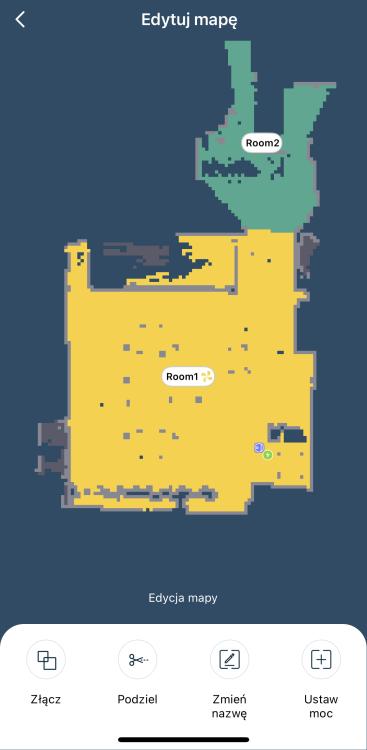 Tefal X-plorer Serie 75 RG7687 mapa z podziałem pomieszczeń do odkurzania