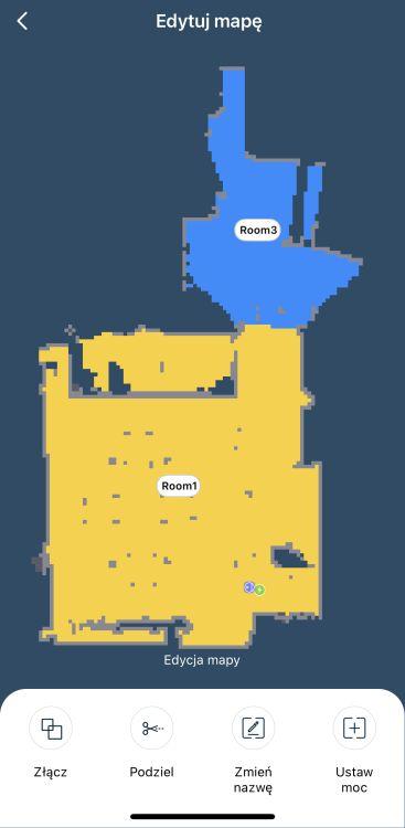 Tefal X-plorer Serie 95 Animal RG7975 podzielenie piętra na pomieszczenia 2