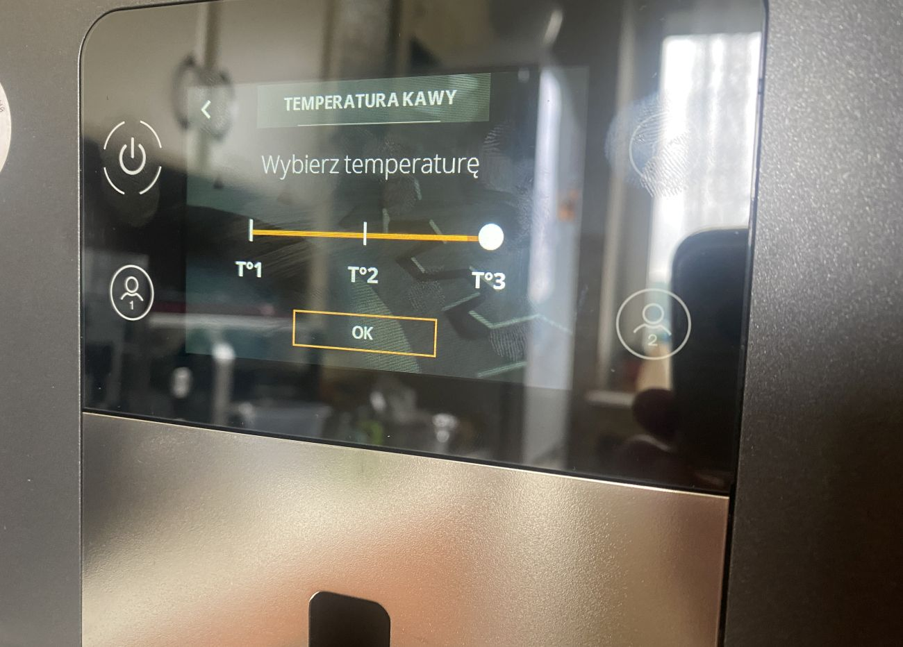 KRUPS Intuition Preference+ EA875U ustawienia temperatury kawy