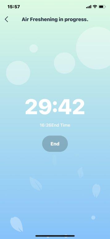 Funkcja 30-minutowego odświeżania w aplikacji robota Ecovacs Deebot T9