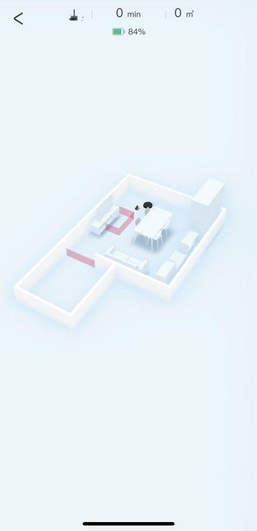 Mapa 3D z meblami w aplikacji robota Ecovacs Deebot T9