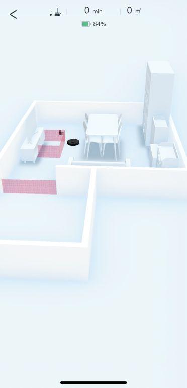 Mapa 3D z meblami w aplikacji robota Ecovacs Deebot T9 2