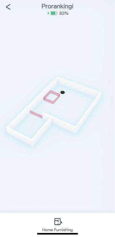 Pusta mapa 3D w aplikacji robota Ecovacs Deebot T9