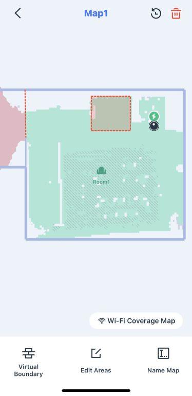 Ustawianie zakazanych stref w aplikacji robota Ecovacs Deebot T9